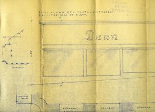 A Dann-féle áruház tervének részlete